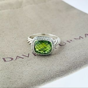 David Yurman Noblesse Peridot Diamond Ring size 7